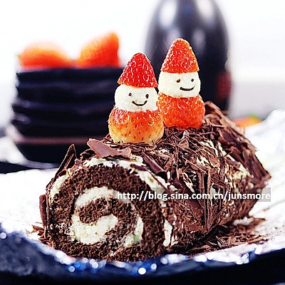 黑白巧克力蛋糕卷