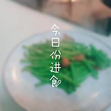 腊肠炒豇豆,甜咸配清淡,不一样的口感
