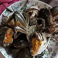 螃蟹炒年糕的做法图解1
