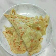 7岁半孩子自制鸡蛋火腿煎饼