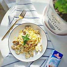 奶油蛤蜊意面#安佳儿童创意料理#