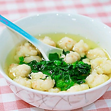 虾滑菠菜汤✧宝宝辅食
