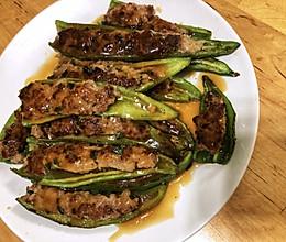 胡大厨的虎皮青椒酿肉的做法