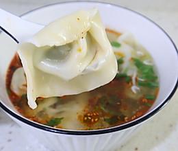 #换着花样吃早餐#上海味道荠菜馄饨的做法