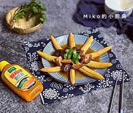 玉米笋烩香菇#太太乐鲜鸡汁蒸鸡原汤#的做法