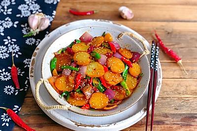 免油炸❗超下饭❗家庭少油版~干锅土豆片