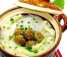 大白菜粉丝丸子煲的做法