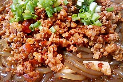 重庆江湖菜之杂酱酸辣粉