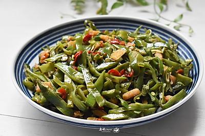 剁椒萝卜干炒扁豆
