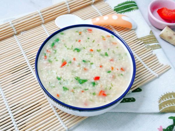 10M+山药小米蔬菜粥:宝宝辅食营养食谱菜谱的做法