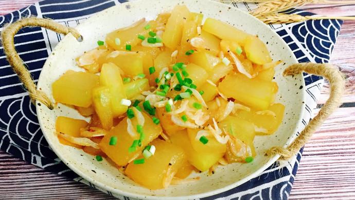 蚝油虾皮炒冬瓜