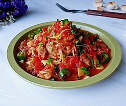 酸辣茄酱肉芽汤的做法
