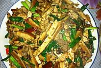 蒜苗豆腐干炒肉的做法