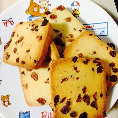 葡萄干切片饼干的做法 步骤4