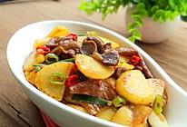土豆片炒卤鸡胗的做法