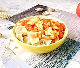 #快手又营养,我家的冬日必备菜品#西红柿鸡蛋蝴蝶面的做法