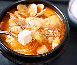 暖身心的辣白菜大酱汤的做法