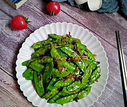#春日时令,美味尝鲜#雪菜荷兰豆的做法