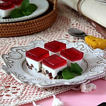 """#""""莓""""好春光日志# """"红宝石""""椰奶冻"""
