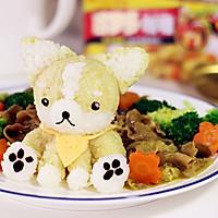 柯基犬咖喱牛肉饭#百梦多Lady咖喱#