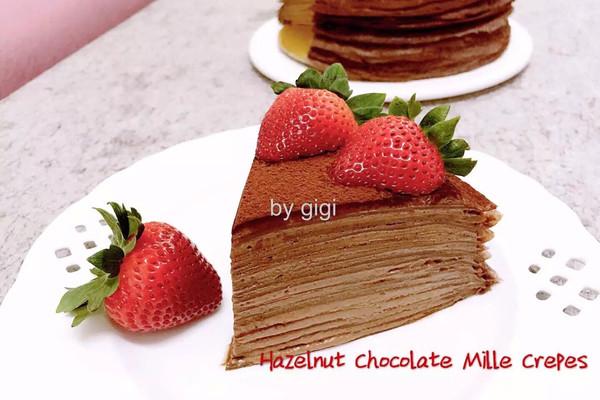 法式巧克力榛子千層可麗餅的做法