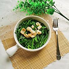 鱿鱼炒韭菜苗
