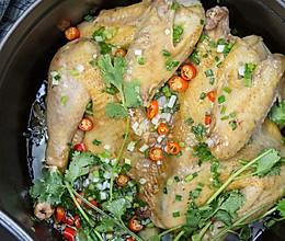 无水葱油鸡|美食台的做法