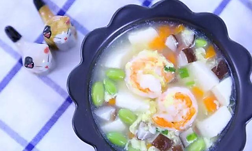 什锦虾仁豆腐羹  宝宝辅食食谱的做法