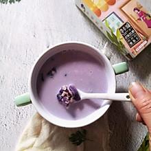 #糖小朵甜蜜控糖秘籍#紫薯牛奶燕麦粥