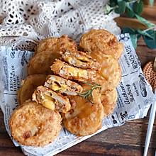 #中秋宴,名厨味#香飘一条街❗爆浆脆皮鸡肉藕盒❗一口流汁❗