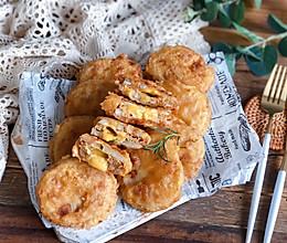 #中秋宴,名厨味#香飘一条街❗爆浆脆皮鸡肉藕盒❗一口流汁❗的做法