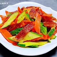 #元宵节美食大赏#黄瓜胡萝卜炒腊肠的做法图解10
