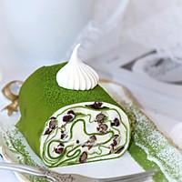 #柏翠辅食节_烘焙零食#抹茶蜜豆毛巾卷的做法图解25