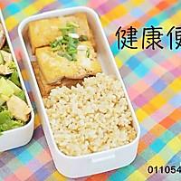 健康便当14(香煎豆腐+鸡胸肉生菜沙拉)的做法图解7