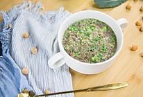 西兰花干贝疙瘩汤的做法