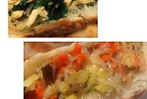 圆白菜和韭菜素馅饼的做法