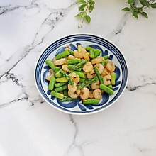 春日美食芦笋炒虾仁
