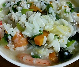 营养菜粥的做法