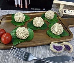 紫薯糯米团(蒸)的做法