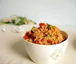 五彩番茄炒饭的做法
