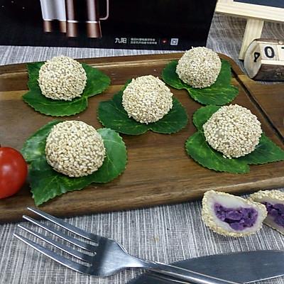 紫薯糯米团(蒸)