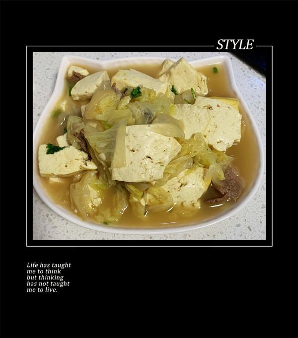 东北名菜—大白菜炖豆腐的做法