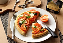 【玛格丽特风味厚底披萨】的做法