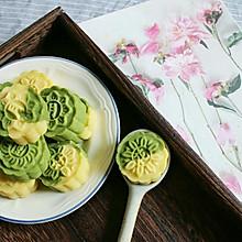 双色清凉绿豆糕#单挑夏天#