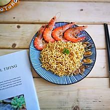 海鲜炒蟹黄面