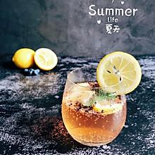 #夏日冰品不能少#薄荷柠檬香草味苏打水
