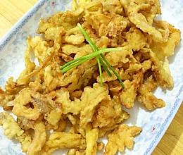 炸平菇,超级好吃素酥肉的做法