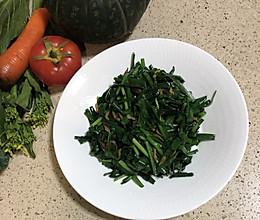 长高节奏之二:韭菜炒虾皮(零失败)的做法
