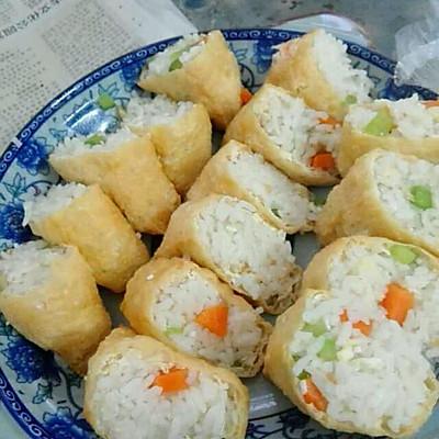 三角油泡豆腐包饭