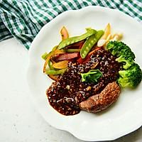 黑椒牛排配时蔬——自己熬制黑椒汁儿#自己做更健康#的做法图解10